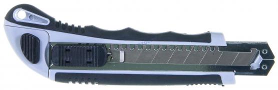 """Нож пистолетный, металл резиновый корпус, лезвие 18мм, (GUK197) """"THORVIK"""""""