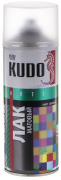 Лак широкого спектра действия акрил [Прозрачный, матовый, аэрозоль] 520 мл Kudo (KU-9004)