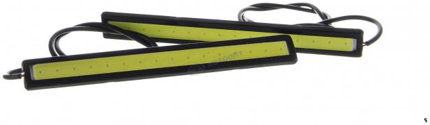 """Огни дневные ходовые KS-360 COB(1 сплошной диод 144*4*16мм) провода, корпус черный """"K&S"""""""