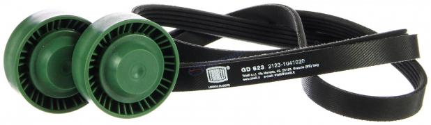 Комплект генератора ВАЗ-2123 (ремень 5РК1888+2 ролика) (GD 623) TRIALLI