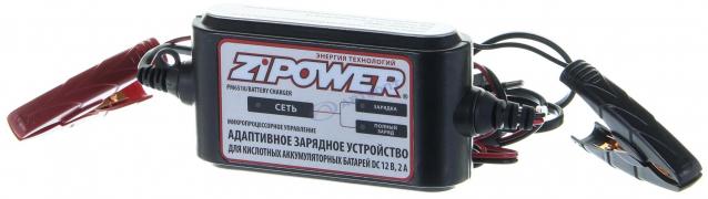 """Зарядное уст-во адаптивное для аккумуляторных батарей DC 12 B, 2 А (PM6518)  """"ZIPOWER"""""""