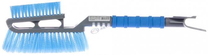 Щетка для очистки снега со скребком, доплнителной головой и распушенной щетиной SAPFIRE арт:SF-0168