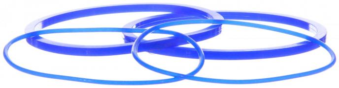 Ремкомплект масляного фильтра ЕВРО (ФГОМ) (СИНИИЙ, силикон) КАМАЗ (7406-1012000-01#Син.)