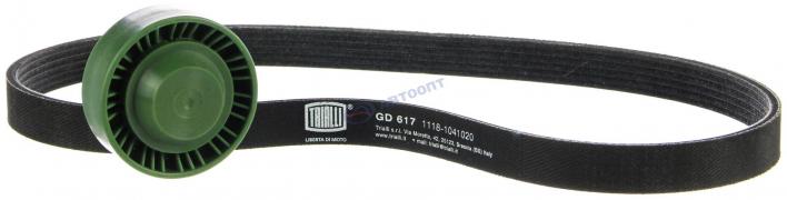 Комплект генератора ВАЗ-1117-1119 (ремень 6РК884 +ролик) (GD 617) TRIALLI