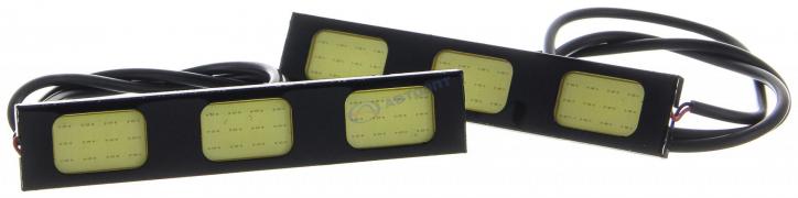 """Огни дневные ходовые KS-183 COB (3 диода 19*12мм), черный корпус, 93*4*18мм """"K&S"""""""
