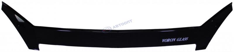 Дефлектор капота ВАЗ-2170 Приора (мухобойка) VORON GLASS еврокрепеж (МУХ00035)