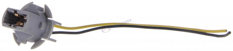 Цоколь под лампу Т20-7440 W21W (1 контакт) 12-24V