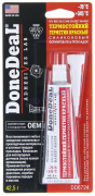 """Герметик - прокладка силик. термостойкий КРАСНЫЙ (DD6724) 42.5 г """"DoneDeal"""" (США)"""